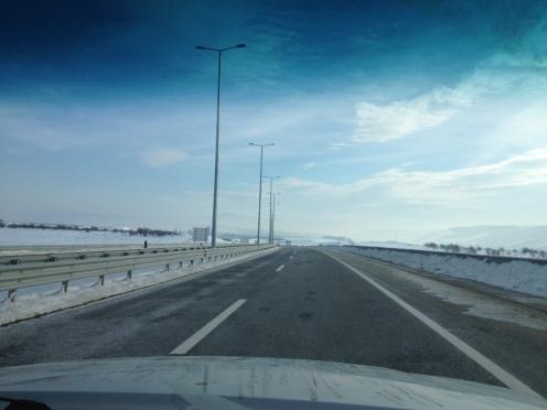 Sur la route de Prizren.