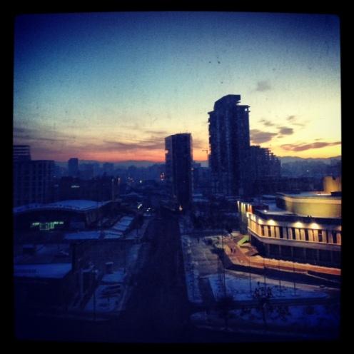 Le soleil se lève sur Oulan Bator.